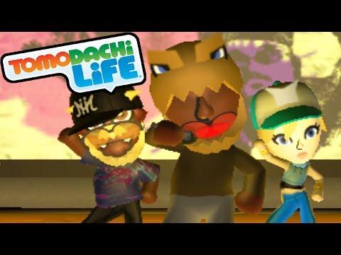 Tomodachi Life 3DS Dino Rap, Slenderman Suit, Concert Hall Gameplay Walkthrough PART 4 Nintendo Mii