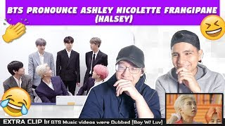 Download NSD REACT TO BTS PRONOUNCE ASHLEY NICOLETTE FRANGIPANE (Halsey)|EXTRA| If 'boy with luv' was dubbed Video