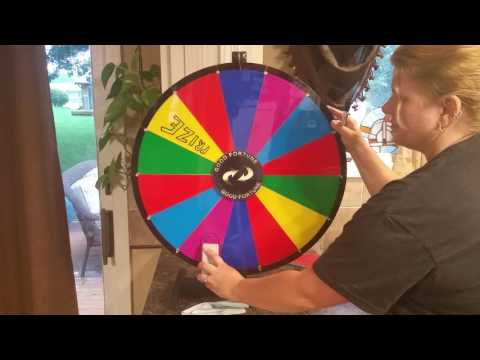 Carnival Prize Wheel (Sold by Alice on Amazon)