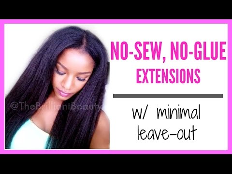 No-Glue, No-Sew Extensions for Natural or Relaxed Hair in Minutes!