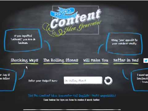 How To Find Unlimited Content Ideas For Your Blog Or Newsletter.