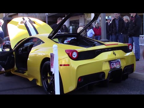 Yellow Ferrari 458 Speciale Carbon Edition