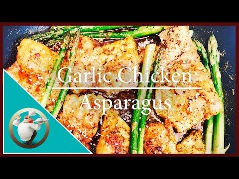 How to make Garlic Chicken  Asparagus - One Pan Chicken Recipe - Chicken Stir-Fry