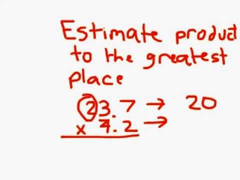 Estimate when Multiplying Decimals