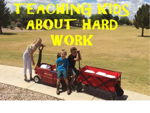 Kids learning that Work = Money
