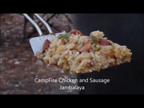 Campfire Chicken and Sausage Jambalaya