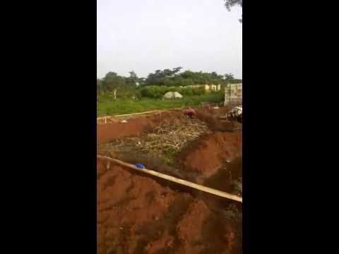 Laying of foundation for a 4 bedroom bungalow