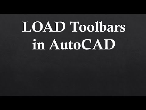 Load ToolBars in AutoCAD