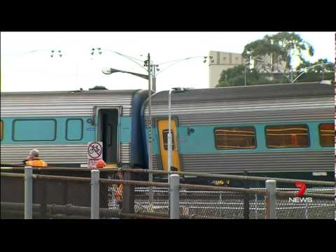 Scare for passengers as train carriages are derailed at North Melbourne (11th of July 2014)
