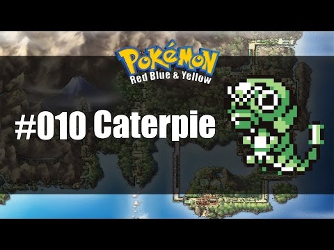 Pokemon Red Blue & Yellow | How to get #010 Caterpie