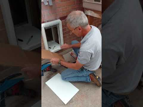 Part two: installing a doggie door through a brick wall!
