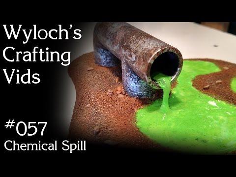 057 - Chemical Spill (Sci-Fi Terrain for Warhammer 40k, Starfinder, etc.)