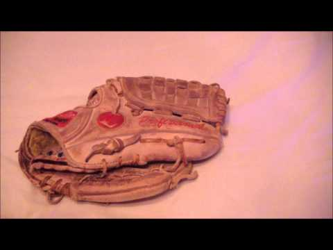 Louisville Slugger 125 Professional Baseball Glove Relace Before and After