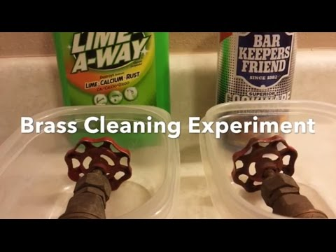 Bar Keepers Friend VS Lime Away Brass Cleaning Experiment Clean Brass Easily.