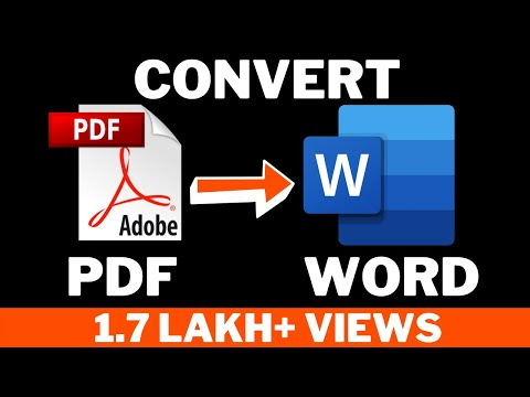 How to Convert pdf to word document ! Hindi