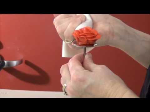 How to make a rose out of buttercream icing by ShopBakersNook.com