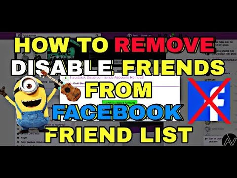 How to Remove All Disabled Friends From Facebook Friend List At Once 2017