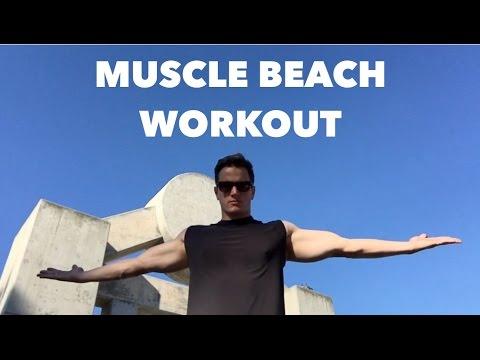 Muscle Beach Chest Workout | Venice Beach, California | Fitness