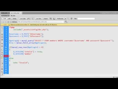Create Login with Session in php.mp4
