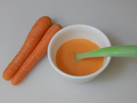 Healthy Baby Food Recipe - Carrot Rice Porridge l Stage 1 Homemade Baby Food l 6+ or 7+ months