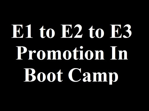 Promotions In Boot Camp. E1 to E2 to E3. Tips