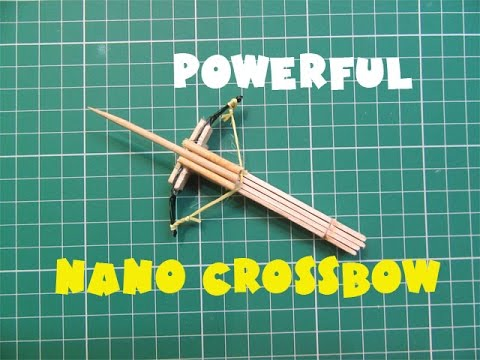 How to Make a Nano Powerful Crossbow with Pop Stick - Easy Tutorials