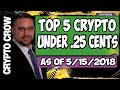 Top 5 Crypto Under .25 Cents w/ Marshall Medallion
