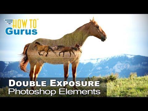 Photoshop Elements Double Exposure : How to Merge Photos 2018 15 14 13 12 11 Tutorial