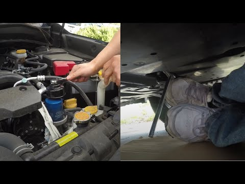 Clean and Cheap Way to Change Engine Oil (Subaru Example)