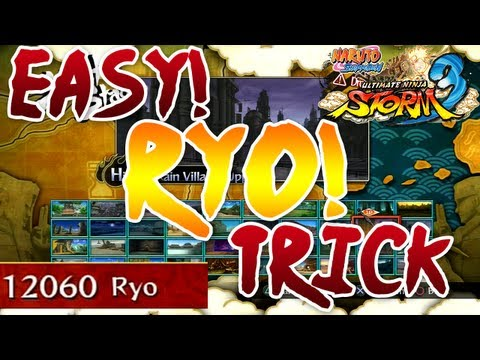 How To Get Ryo Quickly In Naruto Ultimate Ninja Storm 3 - Easy - Unlock All Characters!