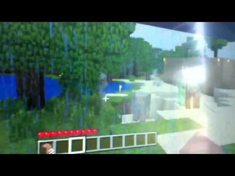 Minecraft xbox 360 charged creeper footage