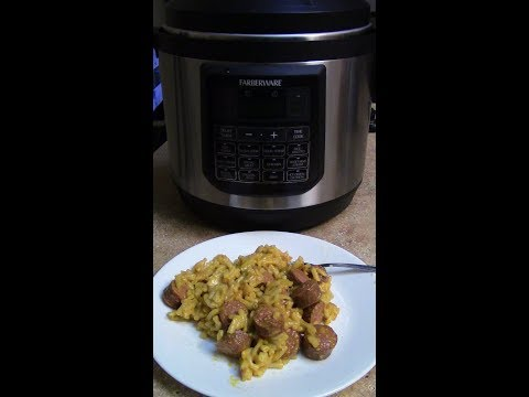Cheap boxed mac&cheese/dogs (Pressure Cooker)