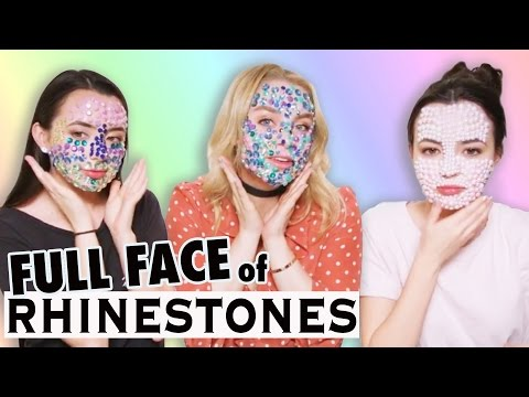 Full Face of RHINESTONES Challenge ft the Merrell Twins