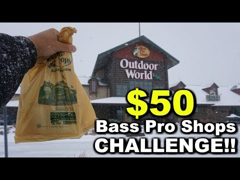 $50 Bass Pro Shops CHALLENGE!!! Best Early Spring Baits!