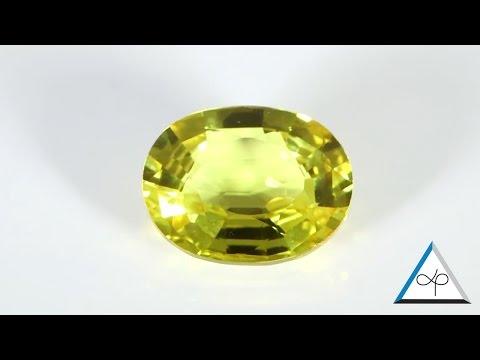 Golden Yellow Sapphire Oval Cut Shape Loose Stone   Prakash Gems