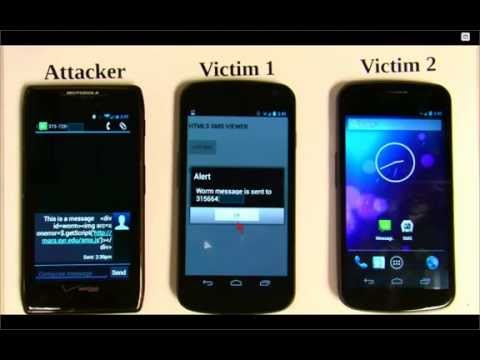 Read an SMS message: Your phone can be hacked