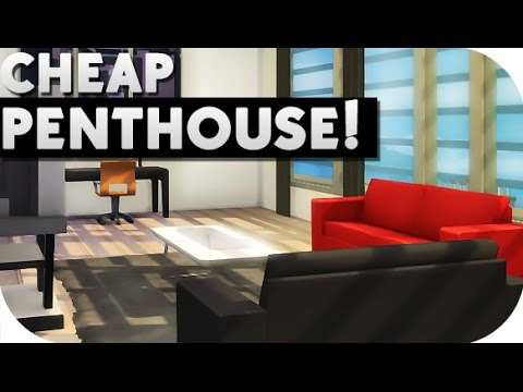 THE SIMS 4 | SPEED BUILD  || Cheap Penthouse Studio + POOL!