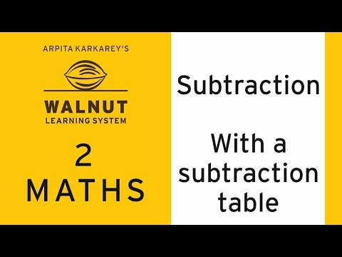 2 Math - Subtraction - With a subtraction table