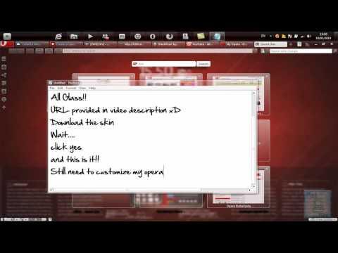 HD Tutorial - Z1-Glass on Opera 10.50 [Transparent Web Browser]