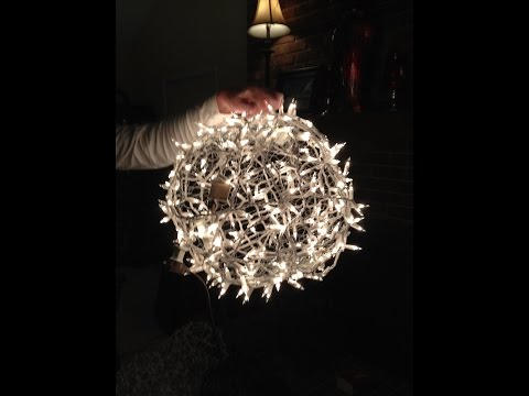 Giant Lighted Christmas Balls - How to Hang them on a Tree
