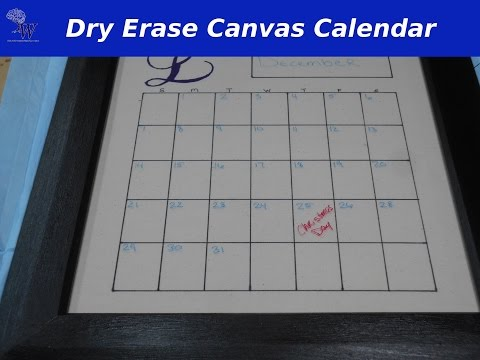 Dry Erase Canvas Calendar