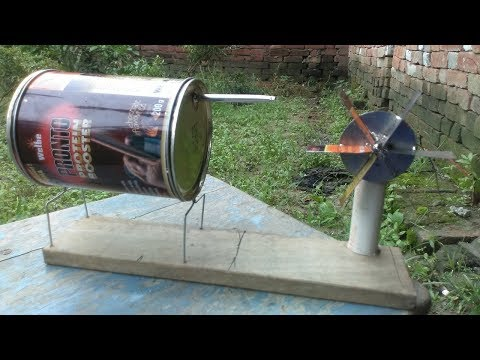 How to make Steam Power Generator - a cool science project with easy way