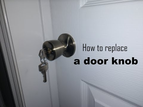 How to replace a door knob DIY video | #diy #doorknob