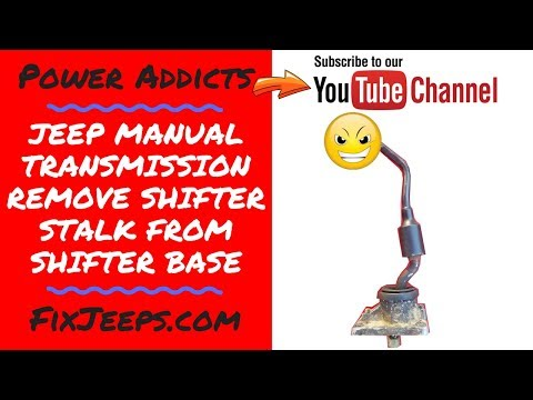 Jeep Wrangler YJ - How to remove a AX15 Jeep shifter from the base.