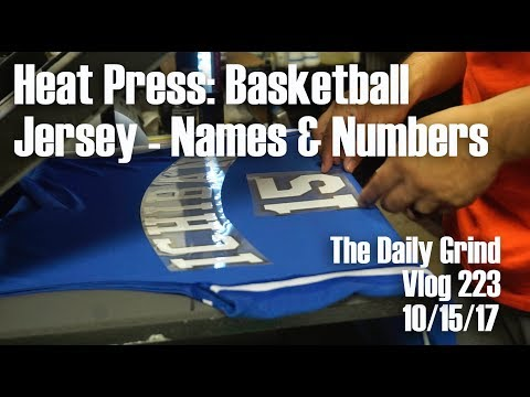 Heat Press: Basketball Jersey - Names & Numbers (Vlog 223)