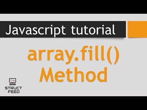 Fill Method in JavaScript Arrays
