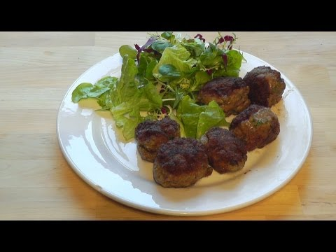 Meatballs beef mince cumin & coriander How to make recipe