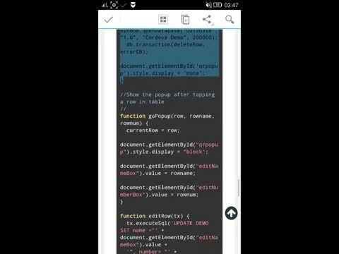 Membuat aplikasi android CRUD menggunakan phonegap cordova dan sqlite langsung di smartphone