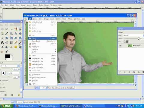 The Gimp 2.6 - Green Screen.avi