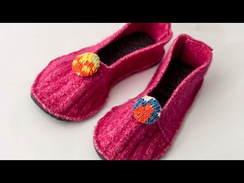 Make Fun Felt Indoor Slippers - Style - Guidecentral